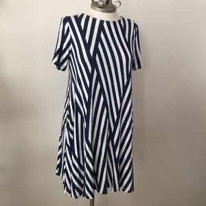 🇺🇸Hourglass Lilly Geometric Striped Jersey Dress